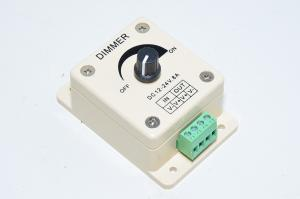 12-24VDC max 8A rotary white PWM dimmer for LED installations with 4x 4mm installation holes and quick terminal block *uusi*